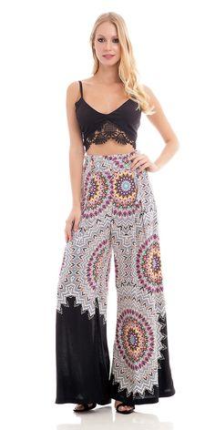 Calça Pantalona Mandalas - FashionUp
