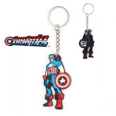 Porte-Clés Captain America Personnage Marvel. Kas Design, Distributeurs de produits originaux