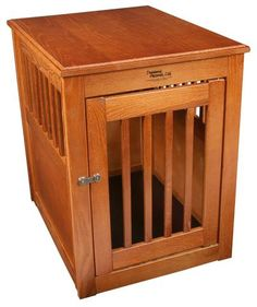 Amish Handcrafted #Fortress #End #Table  #Pet #Crates ||  @PetCratesDirect.com  - 1