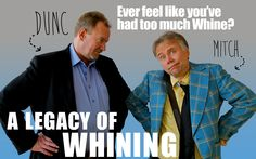 A Legacy of Whining Ross Munro & Robert David Duncan as Mitch and Dunc Friends Reunited, Stop Whining, 30 Years, High School, Men Casual, David, Meet, Humor, Feelings