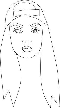 Moody face illustration