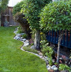 Fence line landscaping ideas car interior design - Landscaping along fence line ...