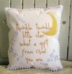 Twinkle twinkle little star pillow by judibdesigns on Etsy, $25.00