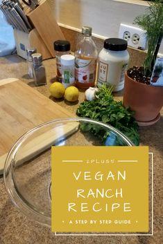 Easy Vegan Ranch Recipe - 2plus5 Vegan Vegetarian, Paleo, Ranch Recipe, Vegan Ranch, Korean Bbq, Recipe Boards, International Recipes, Food Inspiration, Family Meals