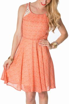 This orange dress has all the Southern Charm needed for a Clemson Game Day! Add your Jack Rogers and you are ready for football season. #orangedress #orangegamedaydress