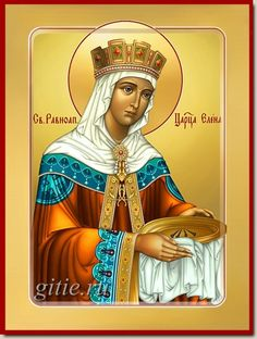 Helen of Constantinople - Empress / May 21 Religious Icons, Religious Art, Holly Pictures, Church Icon, Saint Helens, St G, Byzantine Icons, Believe In God, Orthodox Icons