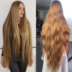 532 vind-ik-leuks, 10 reacties - Girls With Beautiful Hair❤️ (@girls.with.beautiful.hair) op Instagram: 'Real life rapunzel  Absolutely charming long blonde hair❤️ Thank you to @sdrugoiplanety for all…' Permed Hairstyles, Headband Hairstyles, Straight Hairstyles, Cool Hairstyles, Long Red Hair, Super Long Hair, Beautiful Long Hair, Gorgeous Hair, Best Hair Growth Oil