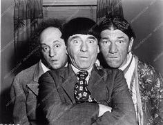 photo Three Stooges Moe Larry Shemp comedy short Scrambled Brains 3873-24