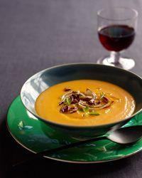 Red Kuri Squash Soup Recipe from Food & Wine