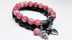 Bransoletki+piękny+komplet+Labradoryt+Jadeit+faset+w+Yeve+jewelry+na+DaWanda.com