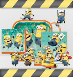 Minions are planning a birthday party! Plan one with them with our full line of Minion party supplies that includes tableware, favors, decorations, as well as invites and thank-yous. Check out these great supplies and start planning your party today! Minions 1, Minions Love, Minion Theme, Minion Birthday, Despicable Me Party, Minion Party, 4th Birthday Parties, 3rd Birthday, Birthday Ideas