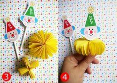 Bird's Party Blog: TUTORIALS: Big Top Circus Party - Little Clown Cupcakes