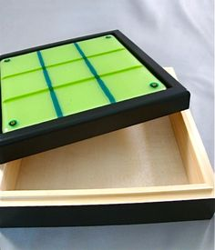Design4Soul Fused Glass Tic Tac Toe Game by Design4Soul on Etsy, $48.00  Store pieces inside!