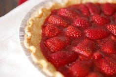 fresh strawberry pie- for my next cookout