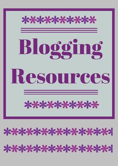 Resources for beginning bloggers