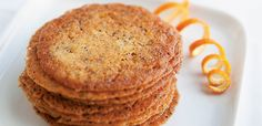 Orange and Poppy Seed Lace Cookies, alive #375, January 2014