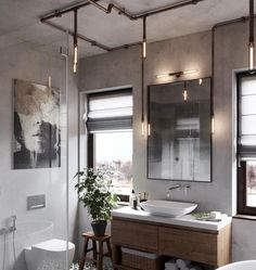 Adorable 105 Awesome Modern Farmhouse Bathroom Decor Ideas https://homearchite.com/2018/02/22/105-awesome-modern-farmhouse-bathroom-decor-ideas/
