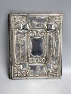 Antiques Atlas - Art Nouveau Silver Plate Blotter Folio Circa 1910 Art Deco Design, Pewter, Antique Silver, Silver Plate, Art Nouveau, Bronze, Antiques, Crafts, Inspiration