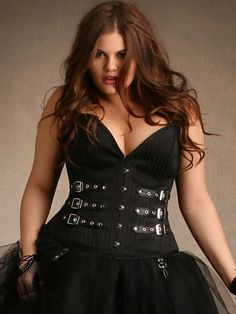 Natalya Steel Boned Corset From The Plus Size Fashion Community At www.VintageAndCurvy.com