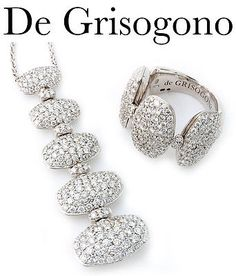 De Grisogono 18K White Gold and Diamond Set - http://designerjewelrygalleria.com/de-grisogono/de-grisogono-18k-white-gold-and-diamond-set-4/