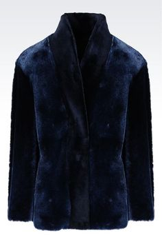 SHEEPSKIN BLOUSON: Caban coat Women by Armani - 1