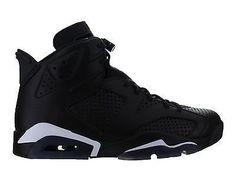 new product 2e803 4f7e3 Mens Air Jordan Retro 6 VI Black Cat Black White 384664-020 Estilo De Hombre