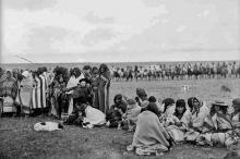 Blackfoot group at Shagannapi Point near Calgary, Alberta
