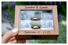 ring box Personalized ring box wedding box wooden by EveMadeArt