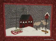 Scrap,quilt and stitch: En attendant Noël... free.