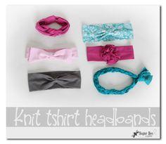 Sugar Bee Crafts: Knit Headbands from tshirts