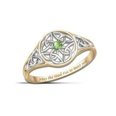 """Celtic Beauty"" Peridot Women's Ring LOVE THIS RING. So, it's $100, which is more than I can afford, but a girl can dream, right?"