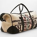 Upcycled Coffee Sack Weekender Bag - very, very upmarket and with a price to match (from Notonthehighstreet). Could I make one??