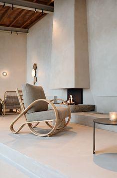 Minimalist Interior, Modern Interior Design, Interior And Exterior, Stone Interior, Beach Fireplace, Fireplace Design, Wabi Sabi, Mediterranean Design, Interior Inspiration