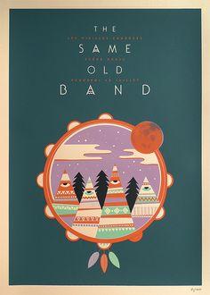 Affiche The Same Old Band par Weareted imprimé en sérigraphie par Dezzig — Designspiration