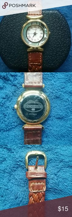 "Fossil  Fashion Watch Faux MOP face. Roman numerals. 7"" bracelet. Needs  a battery. Price reflects. Fossil Accessories Watches"
