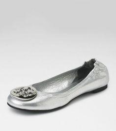 tory burch 'reva' - silver/silver. $195.