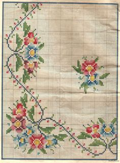This Pin was discovered by Yas Cross Stitch Pillow, Cross Stitch Alphabet, Cross Stitch Art, Cross Stitch Borders, Cross Stitch Flowers, Cross Stitch Designs, Cross Stitching, Cross Stitch Embroidery, Embroidery Patterns