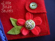 a tutorial for a felt needle book.  however, it could easily be modified to be something much bigger and more fun!