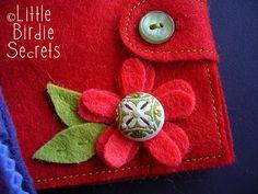 how to make a felt needle book | Little Birdie Secrets