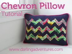 Chevron Pillow Tutorial... super easy zig zag... can't wait to use the techniques...