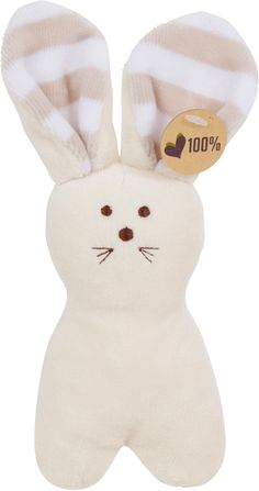 Olive & Pickles Organic Bunny Rattle Toy – Wild Dill