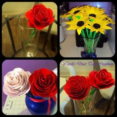 Duct tape roses and sunflowers #BabyCenterBlog