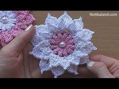 Tığ işi örgü çiçek yapımını birçok örgü süslemede kullanabilirsiniz. Örgü şapka süslemelerinde kullanabilirsiniz. Battaniye modellerinde, kırlent modelleri