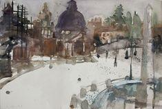 Rudolf Hradil (Austrian, 1925 - 2007) – 36 фотографий Gouache, Museum, Watercolor, Drawings, Painting, Art, Watercolor Painting, Pen And Wash, Art Background