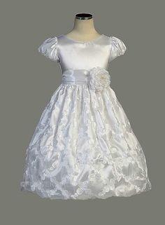 SK_337TL - Flower Girl / Holiday Dress Style 337- Short Sleeved Diamond Taffeta Dress - Green - Flower Girl Dress For Less