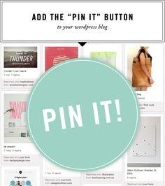 "super simple way to how to add a ""pin it"" button (wordpress) Wordpress, Web Design, Blog Design, Photoshop, Branding, Tips & Tricks, Blog Love, Blogging For Beginners, Pinterest Marketing"