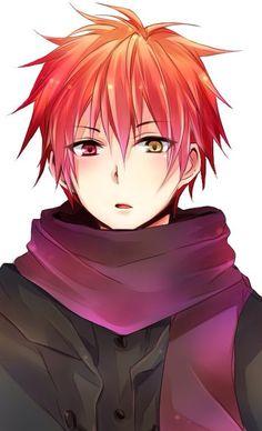 anime guy, red hair, heterochromia / odd eyes red yellow (Akashi Seijuurou Kuroko no Basket) Hot Anime Boy, Red Hair Anime Guy, Cute Anime Guys, Anime Hair, I Love Anime, Anime Boys, Guy Hair, Manga Anime, Anime Chibi