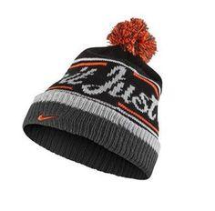 Nike Beanie-Pom, Black, Gray, Orange/Red. #Nike #JustDoIt #SVSports