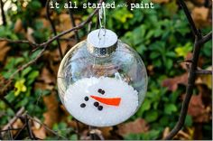 Melted Snowman Ornament - cute for the grand kids to make