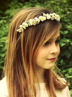 #Flowergirl flower crown ToniK ❀Flower❀Girls❀ #Corona #floral halo #wedding hair